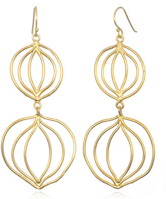 Wendy Mink Double Circle Earrings, Gold