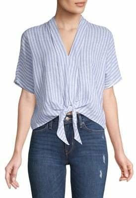 Rails Striped Tie-Front Top