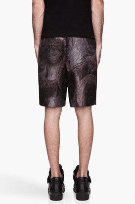 Givenchy Purple Multi Madonna Trapunto Runway Shorts