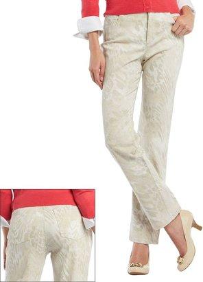 Gloria Vanderbilt amanda slimming snakeskin tapered jeans - petite