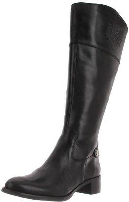 Etienne Aigner Women's Chip Wide Riding Boot,Black,10 M US