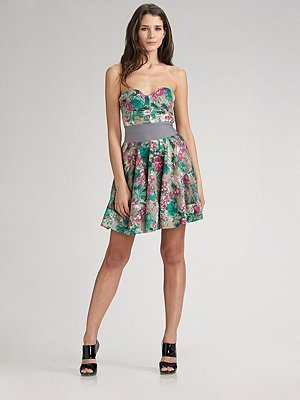 Elizabeth and James Floral Boudoir Dress
