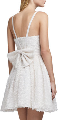 French Connection Whisper Bow-Back Dress