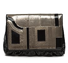 BE&D Kiss Patent/Snake Portfolio Bag