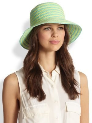 Eric Javits Stripe Straw Bucket Hat
