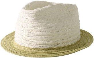Hat Attack Women's Bicolor Toyo Braid Fedora Hat