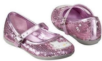 Hello Kitty Toddler Girl's Sequin Mary Jane - Pink