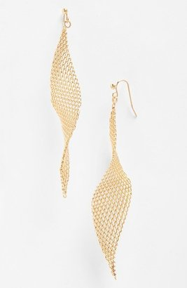 Women's Jules Smith Mesh Fan Drop Earrings $28 thestylecure.com