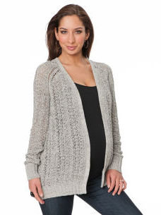 A Pea in the Pod Long Sleeve Open Front Maternity Cardigan