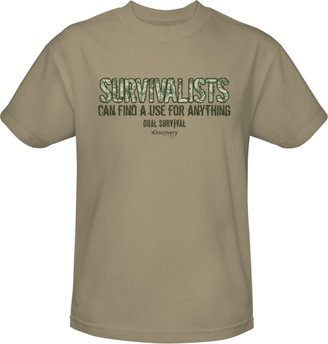 Discovery Dual Survival Survivalists Can Find A Use T-Shirt - Sand