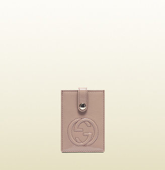 Gucci Soho Soft Patent Leather Card Case