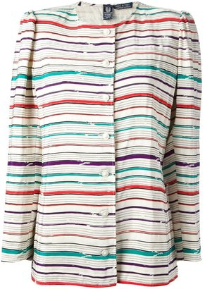 Emanuel Ungaro Pre Owned Striped Jacket