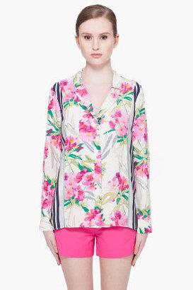 Elizabeth and James Floral Silk Pyjama Top