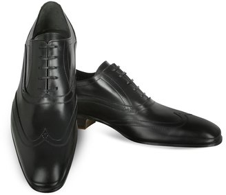 Moreschi Black Leather Oxford Shoes