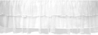 Tadpoles Tulle Crib Skirt - White