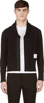 Thom Browne Black Knit Shawl Collar Cardigan