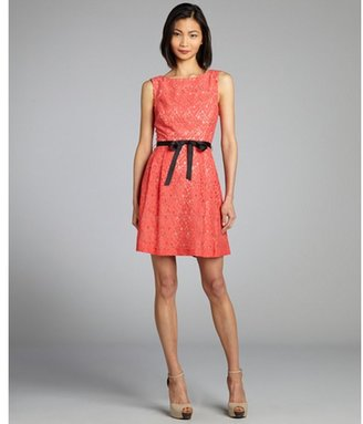 Single Dress Single coral and nude a-line lace 'Annie' dress