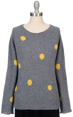360SWEATER Jules Polka Dot Pullover Sweater