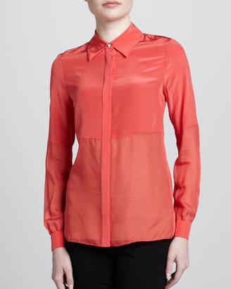 Jason Wu Long Sleeve Combo Shirt