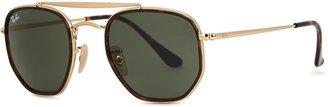 Ray-Ban Marshal II Gold-tone Aviator-style Sunglasses