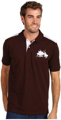 U.S. Polo Assn. Solid Pique Polo W/ Polo Team (Java Brown) - Apparel
