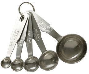 aquagirl Baker's Secret Stainless Steel Measuring Spoons