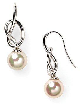 Majorica Knot & Simulated Pearl Drop Earrings