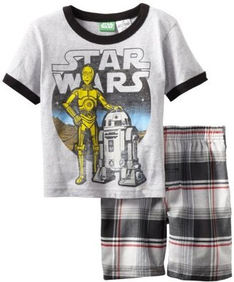Star Wars Boys 2-7 Toddler 2 Piece Knit and Woven Short Set