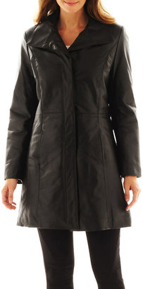 Excelled Leather Pencil Coat $400 thestylecure.com