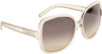 Chloé Oversize Transparent Sunglasses