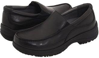 Dansko Wayne (Black Full-Grain Leather) Men's Slip on Shoes