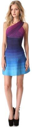 Herve Leger Linden One Shoulder Dress