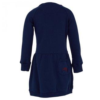 Oilily Blue Slogan Sweater Dress