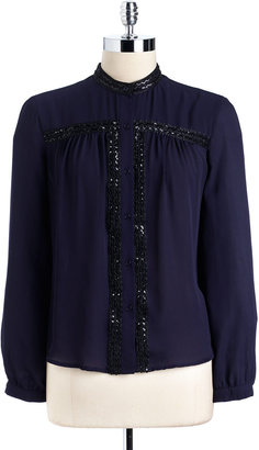 Collective Concepts Embellished Long Sleeved Blouse