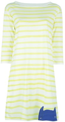 Tsumori Chisato Cats By striped cat printed dress