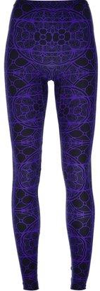 Alexander McQueen stained glass leggings