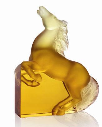 "Lalique Amber ""Kazak"" Horse Figure"