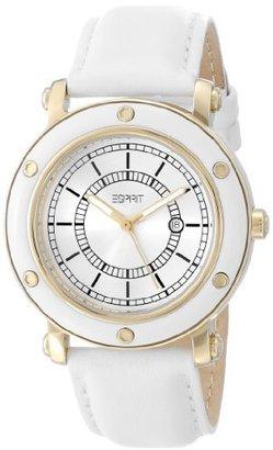 ESPRIT Women's ES104042005 Deco Gold White Classic Fashion Analog Wrist Watch $120 thestylecure.com