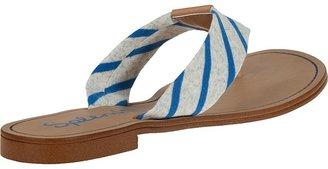 Splendid Cabana Flip Flop Grey/Blue Fabric