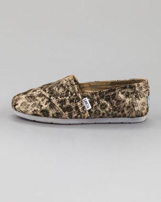 Toms Sequin Leopard-Print Slip-On