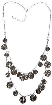 Forever 21 Dimpled Disc Necklace