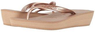 Havaianas High Light Flip Flops (Black) Women's Sandals