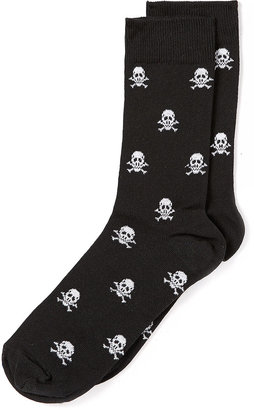Topman Black Skull and Cross Socks