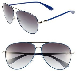 Marc by Marc Jacobs 59mm Metal Aviator Sunglasses