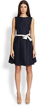 Max Mara Simone Belted Taffeta Dress