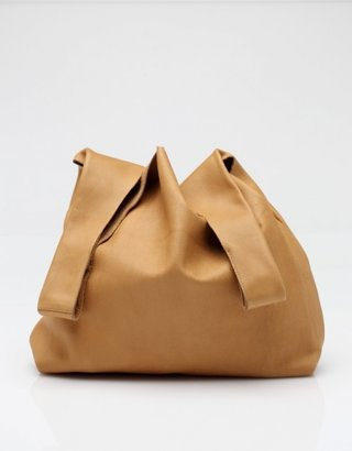 Baggu Medium Leather Bag in Nutmeg