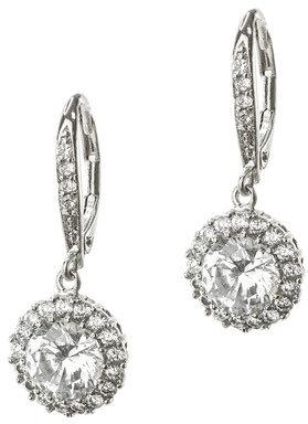 Kenneth Jay Lane Pave Trim Drop Earrings