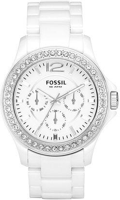 Fossil 'Riley' Ceramic Bracelet Watch, 38mm