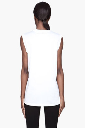 Givenchy White Graphic Print sleeveless T-Shirt