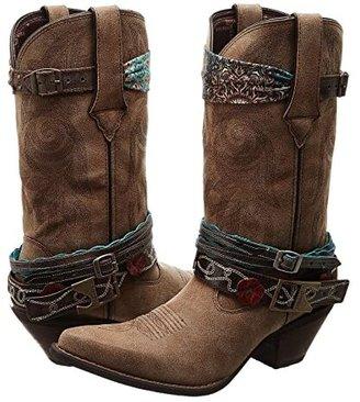 Durango Crush 12 Accessorize w/ Removable Straps (Brown) Cowboy Boots
